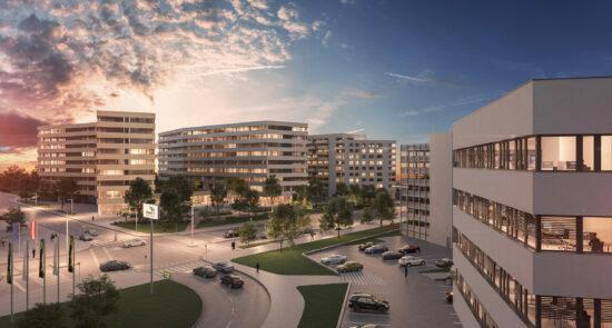 Read more about the article Die Projektentwicklung für das gesamte Gewerbequartier TwentyOne wurde Ende Juni finalisiert.